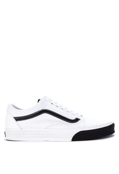 d911409958 VANS white Color Block Old Skool Sneakers 6C724SH1954846GS 1