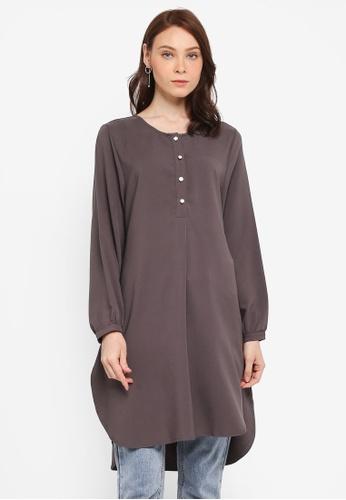 BYN grey Muslimah Blouse 42012AA711F75BGS_1