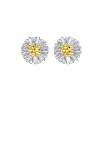 Glamorousky silver 925 Sterling Silver Fashion and Elegant Daisy Stud Earrings DBE1DAC9E3032AGS_1
