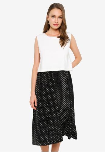 GLOBAL WORK white Docking Sleeveless Dress 2EDFCAA1F81A6AGS_1