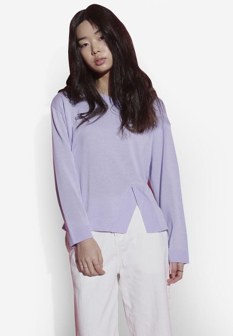 Korean Fashion Overlap Knit Top