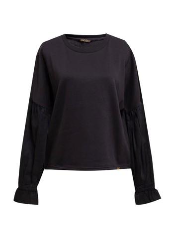 Gaff black Sweater Atasan Lengan Panjang Caterina B11D2AA66F73ADGS_1