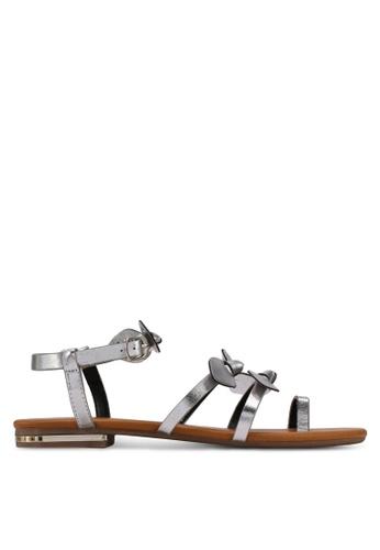 Velvet silver Bow Sandals F93C7SH9535E1BGS_1