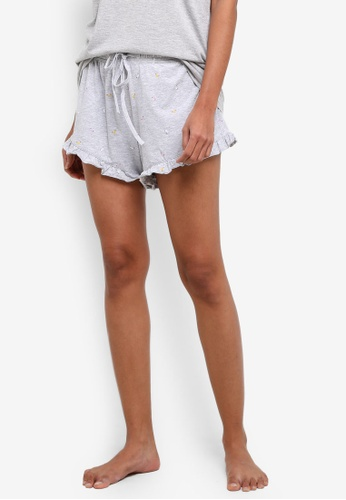 Cotton On Body grey Match Back Frill Shorts CO561AA0S9EUMY_1