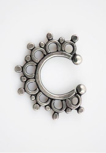 Aadyaa Singapore silver Filigree Nose-ring/Septum Ring ( Clip On ) CFEFDAC881C439GS_1