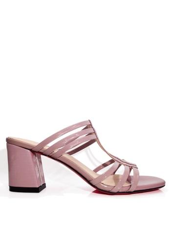 Twenty Eight Shoes 粉紅色 羅馬式粗高跟涼鞋 VS1721 CA522SHF40243EGS_1