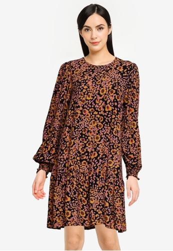 Vero Moda brown Sandra Long Sleeves Short Dress 14B1DAA13EE246GS_1