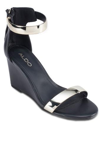Kimmi 一字帶esprit 台灣官網楔型跟鞋, 女鞋, 鞋