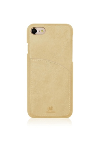 Monocozzi EXQUISITE Genuine Leather Case with Pocket for iPhone 7 - Cream MO983AC59IPCHK_1