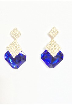 Angelina Square Crystal Earrings