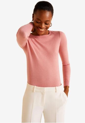 Mango pink Fine-Knit Sweater 72EC2AA99FBADCGS_1