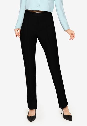 URBAN REVIVO black Casual Trousers 7FED9AA424C033GS_1