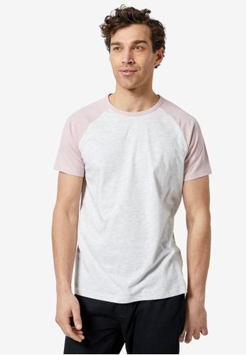 Burton Menswear London 粉紅色 Basic 休閒T恤 33CD1AA57A668BGS_1