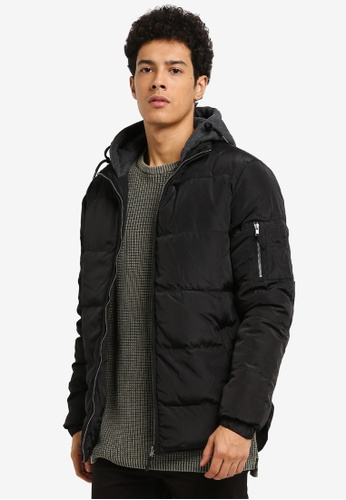 Cotton On black NZ Puffer Jacket 08BF7AA760BA49GS_1