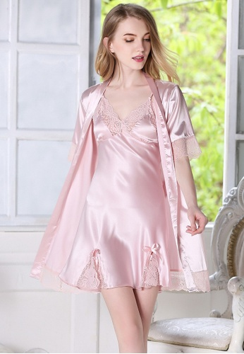 50bc63b64a448 Buy LYCKA LYCKA-LCL1109Light Pink M European Style Lady Sexy Lace ...