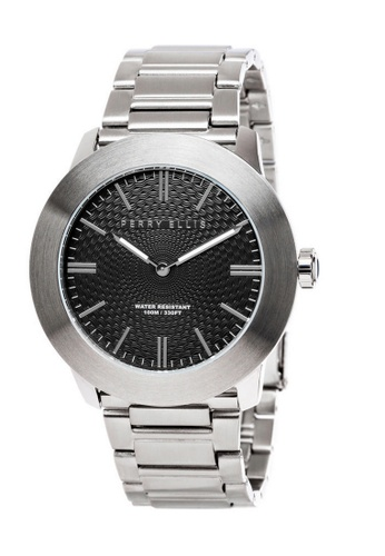 Perry Ellis silver Perry Ellis Slim Line Men 46mm Quartz Stainless Steel Watch 03001-02 168E6AC0790E73GS_1