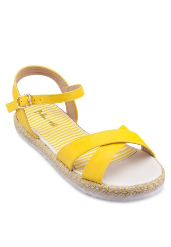 交叉帶平底esprit 高雄涼鞋, 女鞋, 鞋
