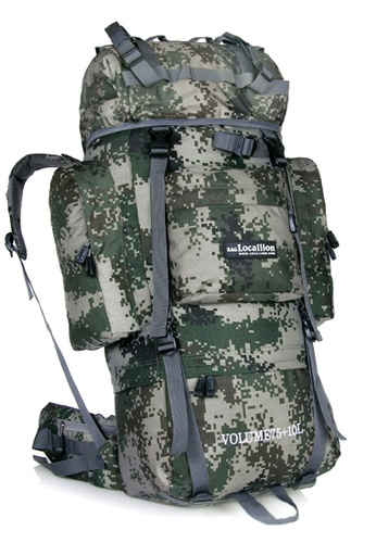 Local Lion Local Lion Large Capacity Steel Frame Water Resistant Hiking Backpack 85L (Camo) LO780AC28TRVMY_1