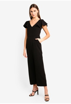 e6c4239214a 75% OFF BYSI Frill Sleeve V-Neck Jumpsuit RM 259.00 NOW RM 64.90 Sizes S XL