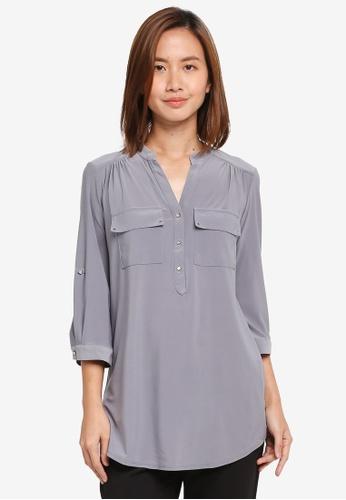 Wallis grey Grey Long Line Shirt 34FE1AA2DBAEBAGS_1