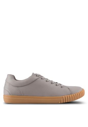 ZALORA grey Trainers in Gum Sole 3BAE3SHBAC5C7EGS_1