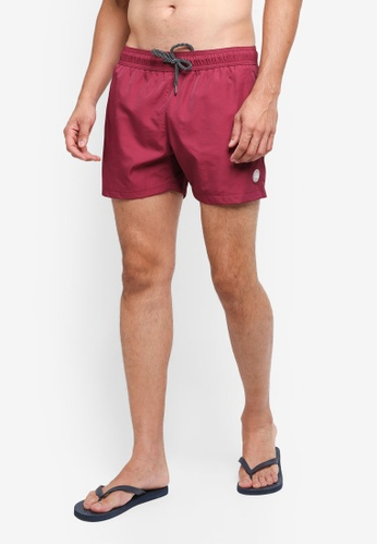 Topman red Plum Swim Shorts 10C53AA00E35D4GS_1