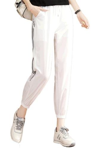 A-IN GIRLS white Elastic Waist Casual Trousers 5D8DAAA583FC0AGS_1