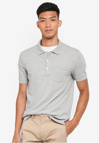 J.Crew 灰色 Men's Slim Stretch Pique Polo Shirt C9E76AA3F7AEA0GS_1