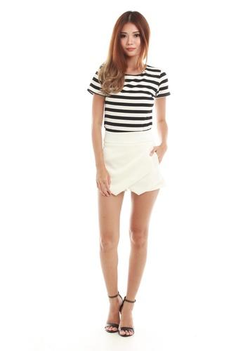 Sophialuv multi Jean Short Sleeve Stripe Top in  Big Stripe 5E78FAA95B05C1GS_1