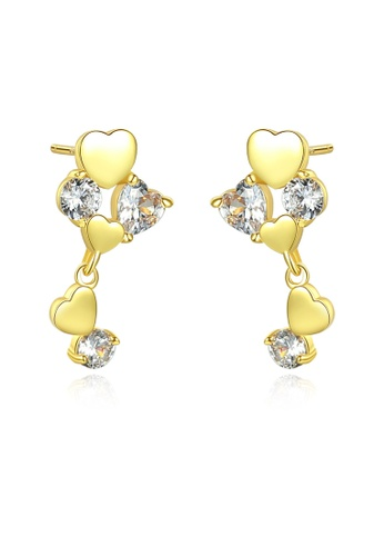 SUNRAIS gold High quality Silver S925 gold fashion earrings D8D40AC42D59AAGS_1