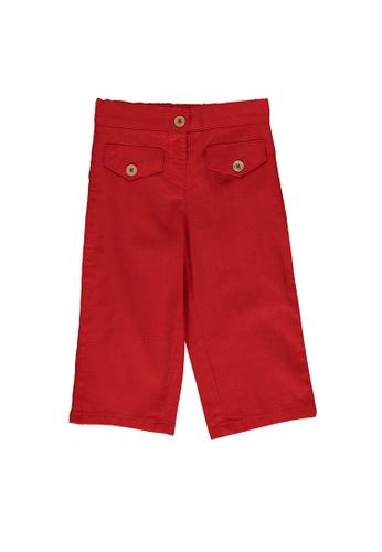 LC Waikiki red Baby Girl's Gabardine Trousers B96C1KAC743E23GS_1