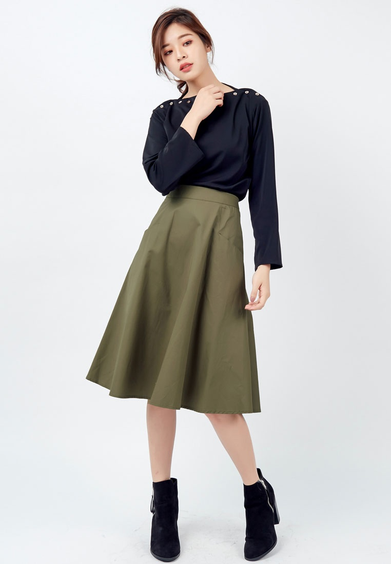 Green Structured Army Skirt Green Kodz Structured Structured Skirt Army Kodz Kodz Army Skirt Green Kodz Skirt Structured A0qw0Ug