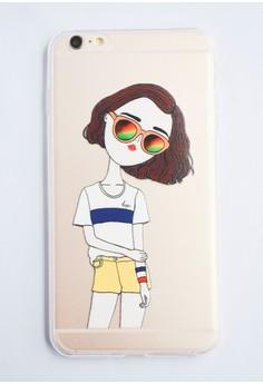 Fashionable Girl 2 Soft Transparent Case for iPhone 6 plus/ 6s plus