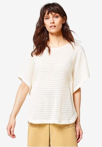 ESPRIT beige Striped Sweatshirt B381CAAF857AB9GS_1
