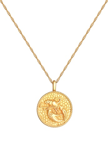 ELLI GERMANY gold Necklace Zodiac Sign Cancer Coin Gold 31566ACF4AC9F4GS_1