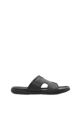 SEMBONIA black Men Synthetic Leather Sandal 728C6SH0D0046FGS_1