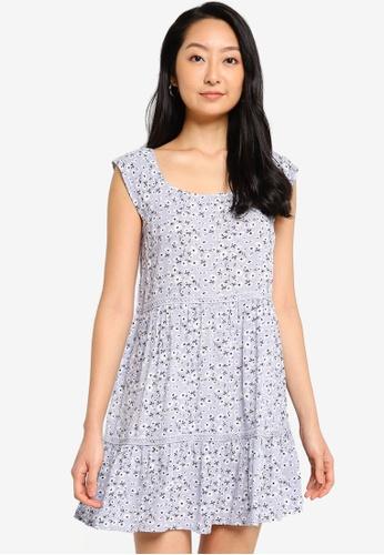ZALORA BASICS purple Lace Tiered Dress 67682AA2213539GS_1