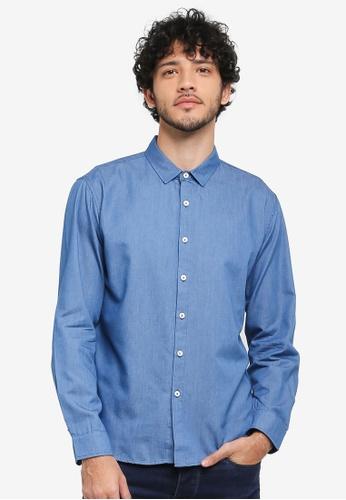 JAXON blue Back Graphic Shirt 087D8AAEBF7B6EGS_1