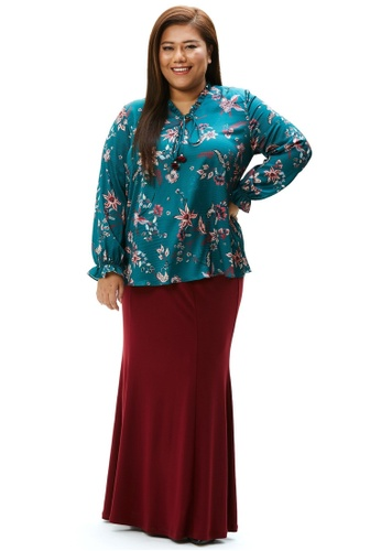 MS. READ green MS. READ Printed Peasant Top 14B62AAC74AE00GS_1