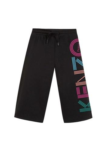 KENZO KIDS black and multi KENZO GIRLS LONG PANTS 71D2AKA7265D65GS_1