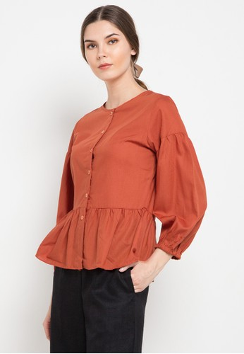 Noche red Luciana Blouse 4AE2BAAE7FE6FBGS_1