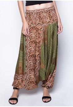 Geometric Mandalas Convertible Jumpsuit Harem Pants