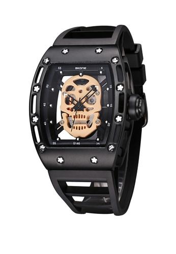 Sk Time Watch Shop black Japan Design Skone Skull watch 50379AC8B75FD0GS_1