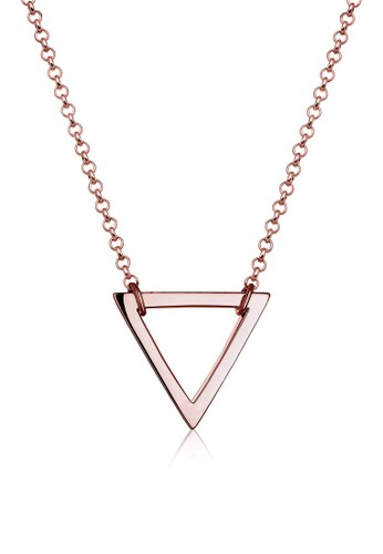 Elli Germany gold Perhiasan Wanita Perak Asli - Silver Kalung Basic Triangle Rosegold Rosegold 1BB29AC1B3A3CEGS_1