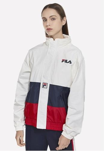 FILA white Korea Collection Unisex FILA Logo Color Blocks Jacket A6F04AA8523A63GS_1