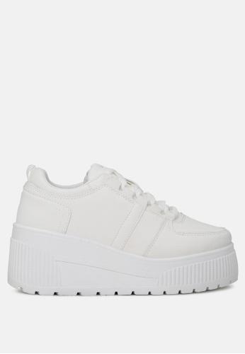 London Rag 白色 系带休闲板鞋 39176SHAA29433GS_1