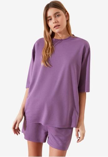 Trendyol purple Casual Pyjama Set A17B4AAA673D44GS_1