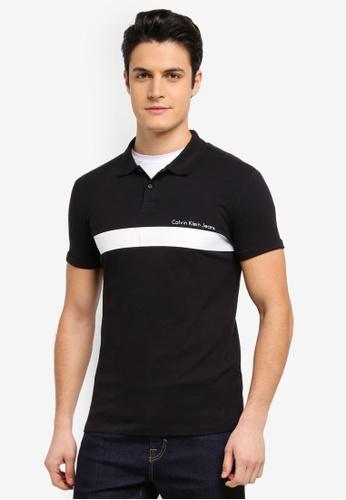 Calvin Klein black Pertol 2 Slim Polo Shirt - Calvin Klein Jeans DB5CDAABA5E37FGS_1