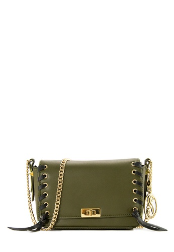 SEMBONIA green SEMBONIA Synthetic Leather Crossbody Bag (Khaki) 611DFACB6C2C12GS_1