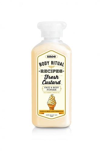 Snoe Beauty yellow Snoe Body Ritual Recipes Fresh Custard Powder in Vanilla Bean Butterscotch CA8A1BEFADED8DGS_1